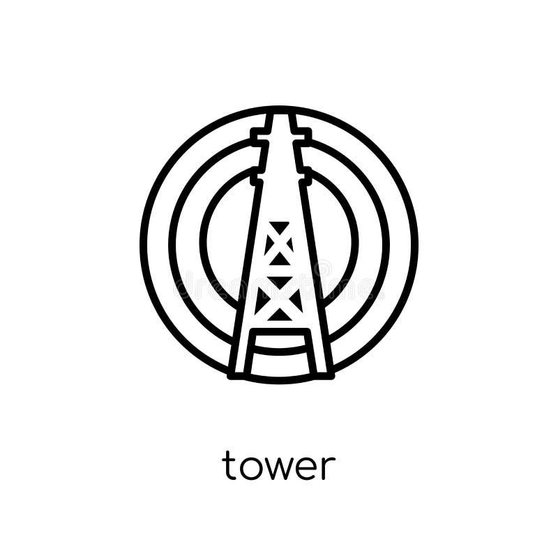 Значок башни  иллюстрация вектора