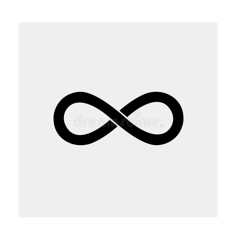 Значок безграничности Черная предпосылка также вектор иллюстрации притяжки corel иллюстрация вектора