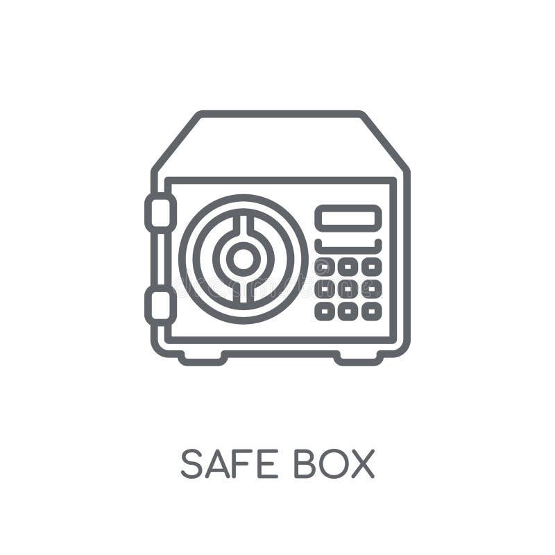 Значок безопасной коробки линейный Концепция логотипа коробки современного плана безопасная на wh бесплатная иллюстрация
