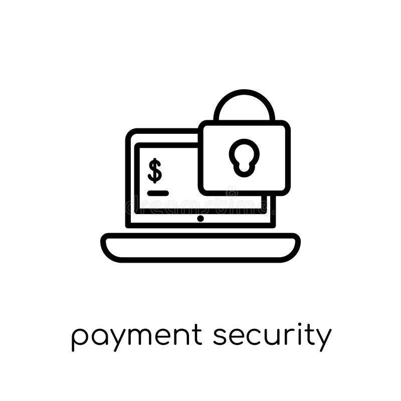 Значок безопасностью оплаты от собрания Ecommerce иллюстрация штока