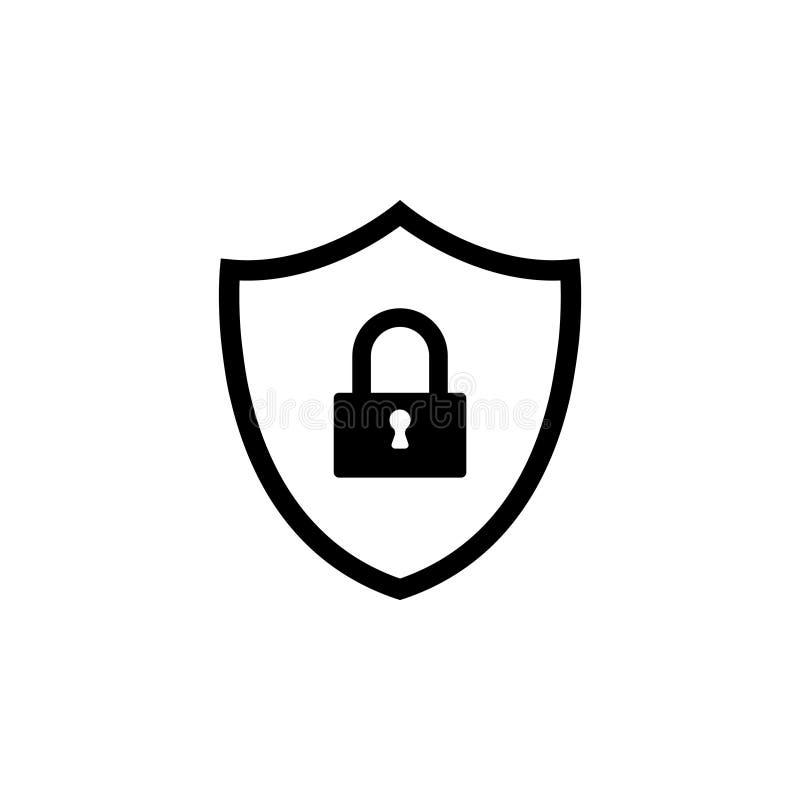 Значок безопасностью экрана вектор иллюстрация штока