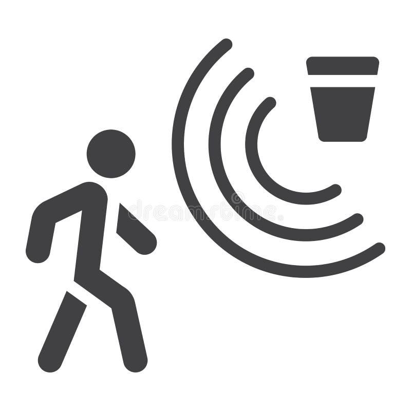 Значок, безопасность и предохранитель детектора движения твердые бесплатная иллюстрация