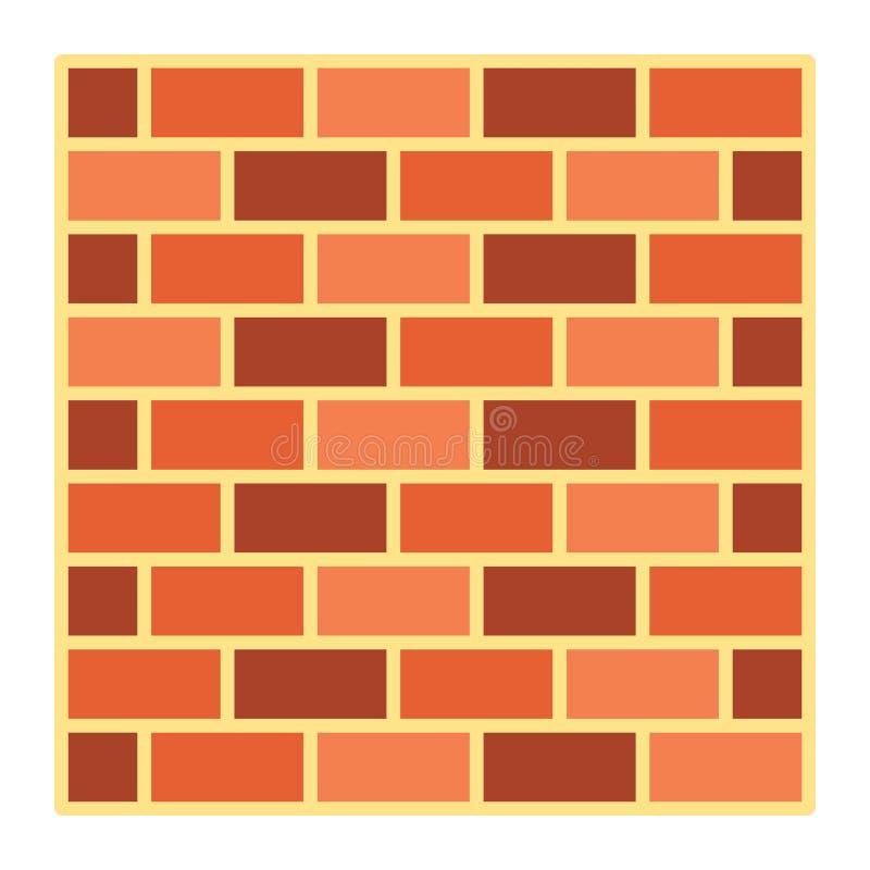 Значок, безопасность и строение кирпичной стены плоские бесплатная иллюстрация