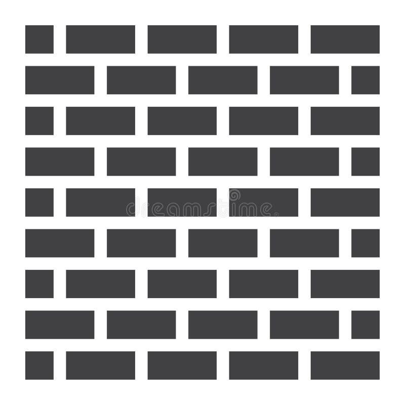 Значок, безопасность и строение кирпичной стены твердые бесплатная иллюстрация