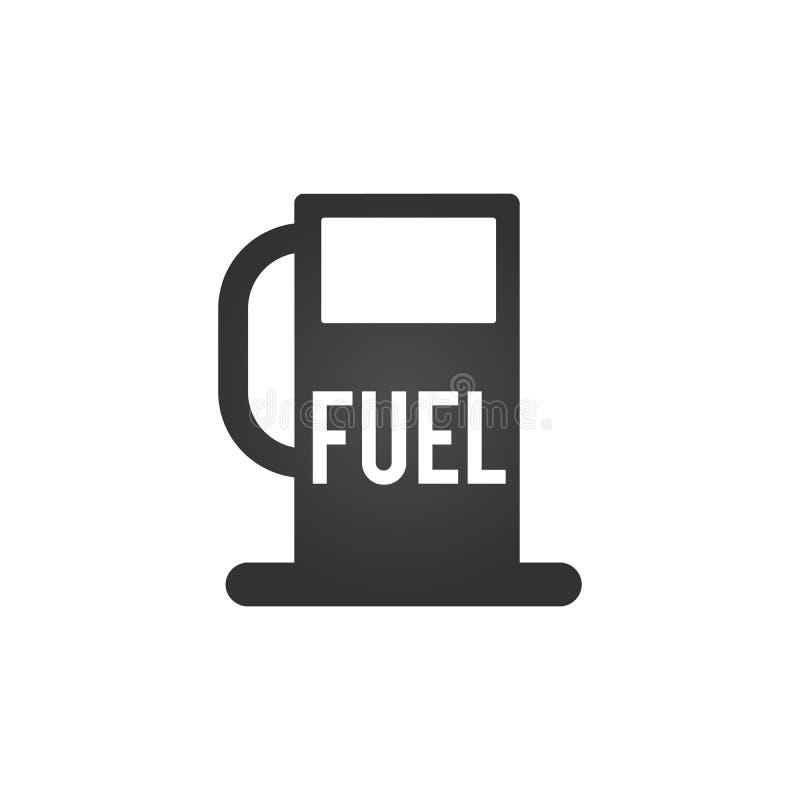 Значок бензоколонки Дизайн символа концепции бензоколонки Иллюстрация вектора изолированная на белой предпосылке бесплатная иллюстрация