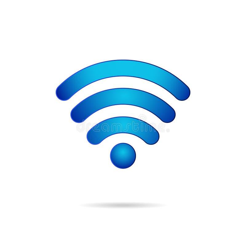 Значок беспроводной связи символа Wifi 3d иллюстрация вектора