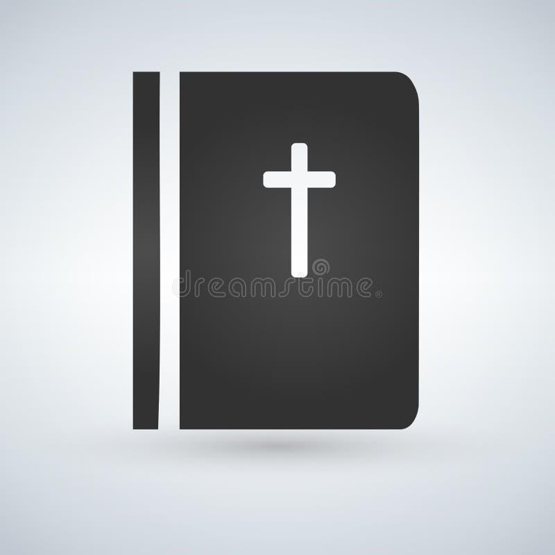 Значок библии на предпосылке Ультрамодный простой символ для дизайна или кнопки вебсайта к передвижному app Иллюстрация логотипа бесплатная иллюстрация