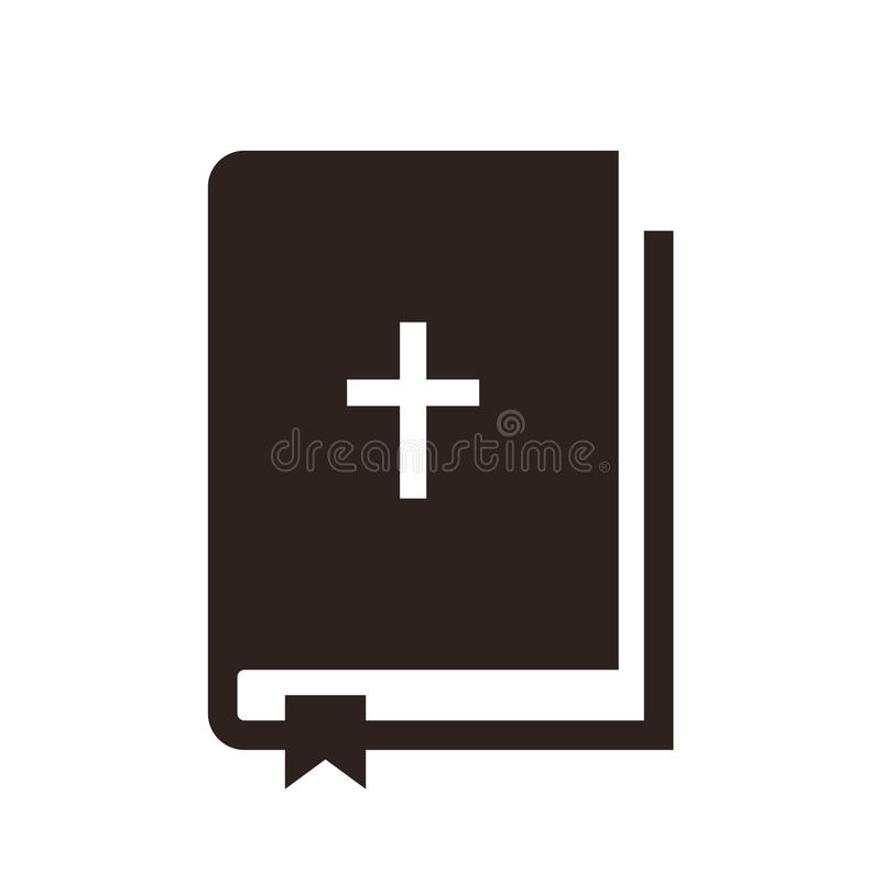 Значок библии иллюстрация штока