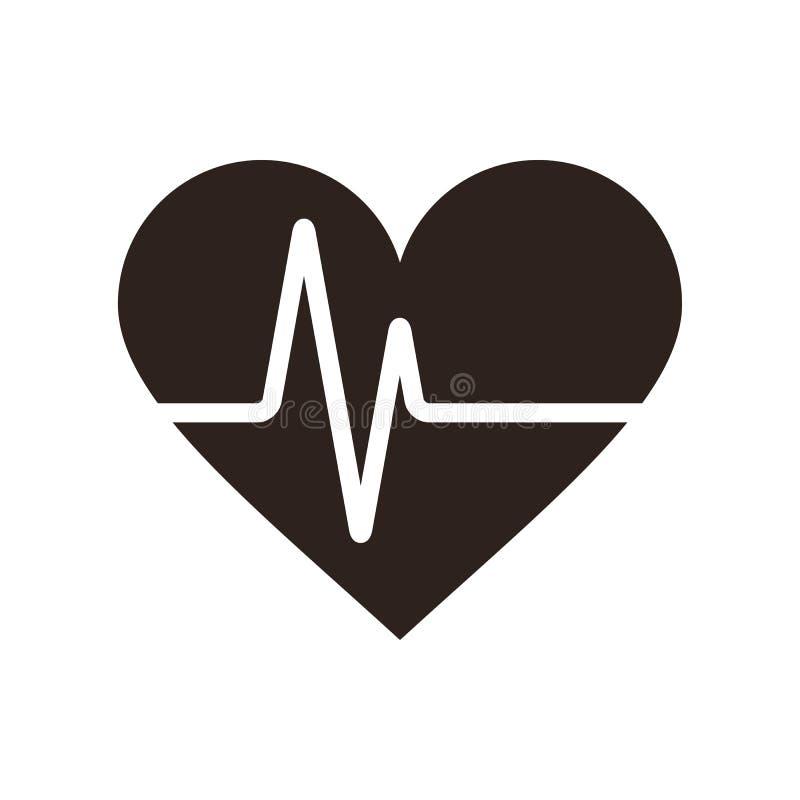 Значок биения сердца иллюстрация штока