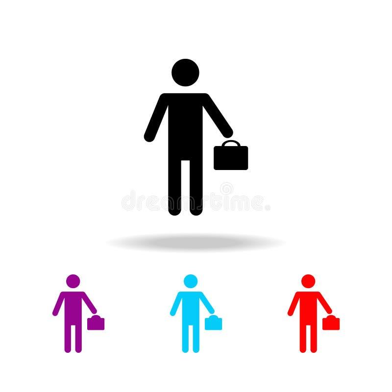 Значок бизнесмена силуэта Элементы людей в различной деятельности в multi покрашенных значках Наградное качественное ico графичес бесплатная иллюстрация
