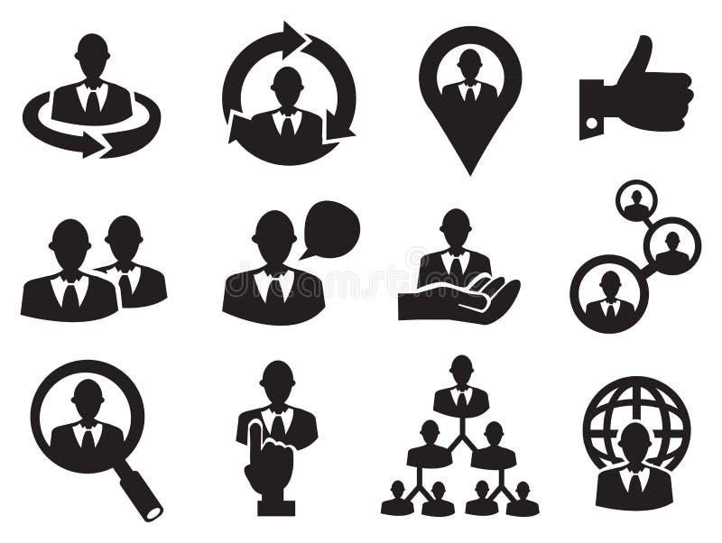 Значок бизнесмена установленный для человеческих ресурсов бесплатная иллюстрация