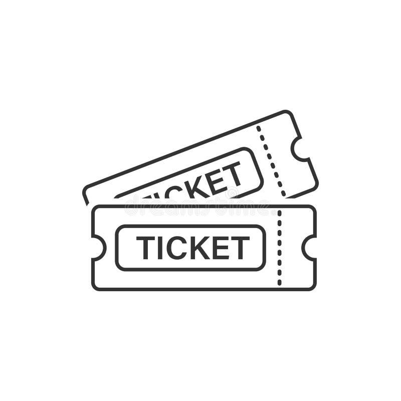 Значок билета кино в плоском стиле Впустите одно vect входа талона бесплатная иллюстрация