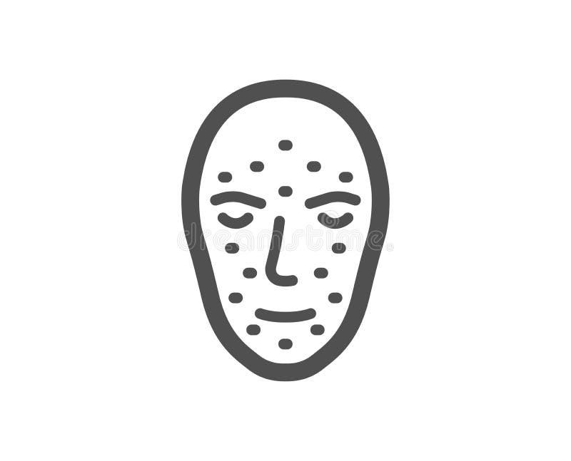 Значок биометрии стороны Лицевой знак опознавания вектор бесплатная иллюстрация