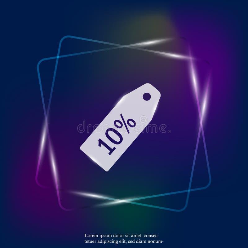 Значок бирки продажи цена 10%  Слои собранные для легкой редактируя иллюстрации конструируйте ваше иллюстрация вектора