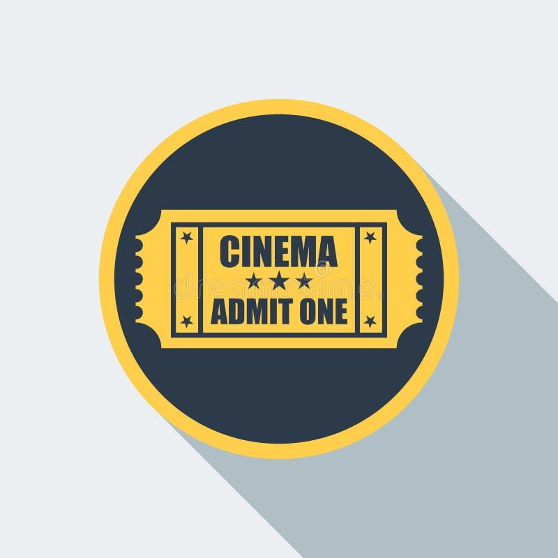 Значок билета кино иллюстрация вектора