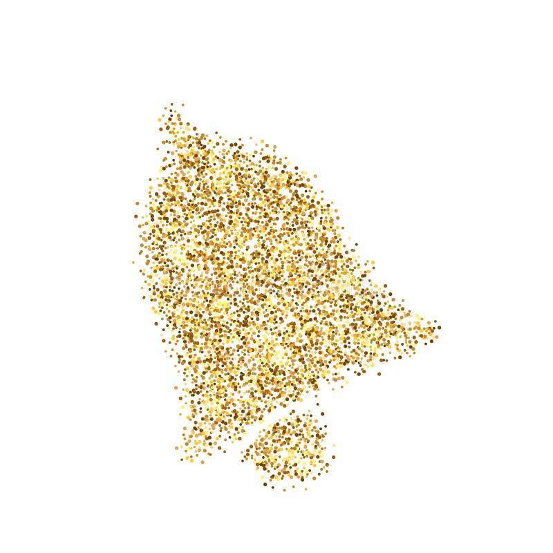 Значок блестящего золотого колокола, изолированный на фоне Искусство творческий концепт иллюстрация для веб, свет светящиеся свет стоковая фотография
