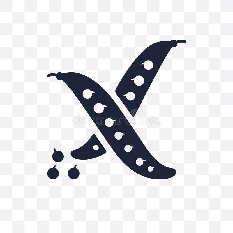 Значок бобов прозрачный Дизайн символа бобов от земледелия, иллюстрация штока