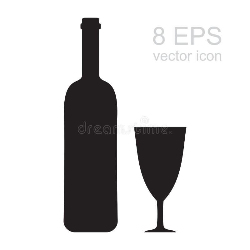 Значок бокала иллюстрация вектора
