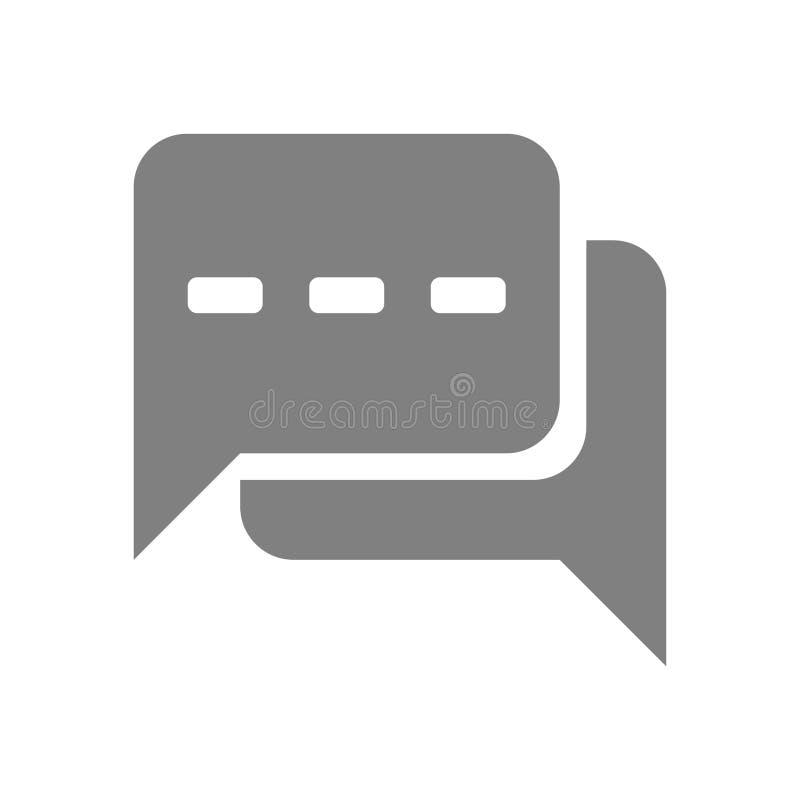 Значок болтовни, sms значок, звонок, болтовня, пузырь, значок комментариев, сообщение, значок беседы, речь, дизайн вектора значка иллюстрация штока
