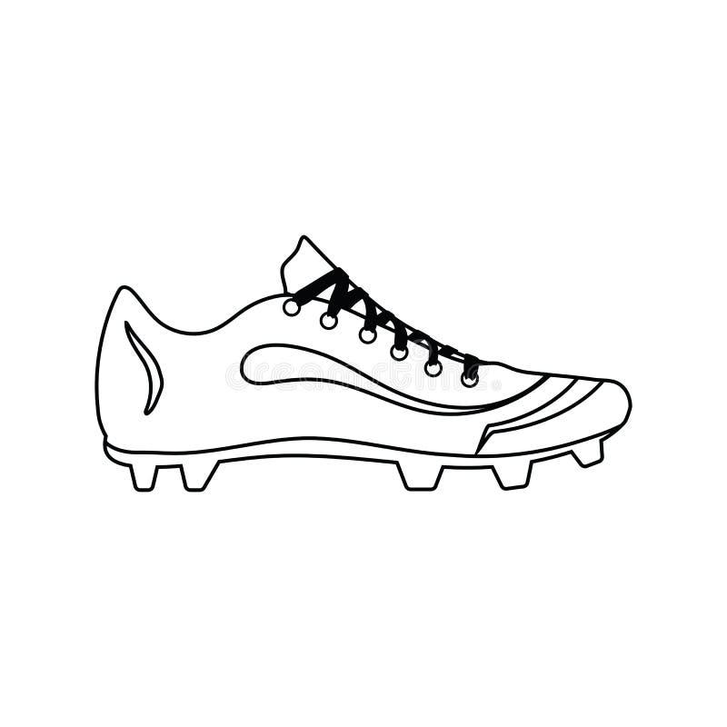 Значок ботинка бейсбола иллюстрация штока