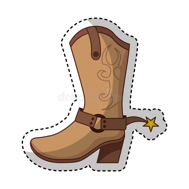 Значок ботинка ботинка ковбоя бесплатная иллюстрация