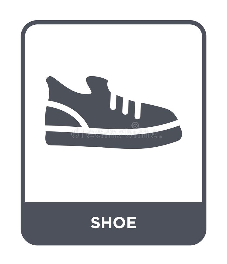 значок ботинка в ультрамодном стиле дизайна Значок ботинка изолированный на белой предпосылке символ значка вектора ботинка прост иллюстрация штока
