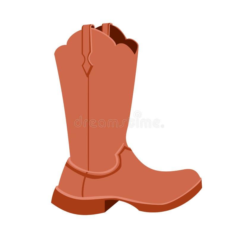 Значок ботинка ковбоя бесплатная иллюстрация