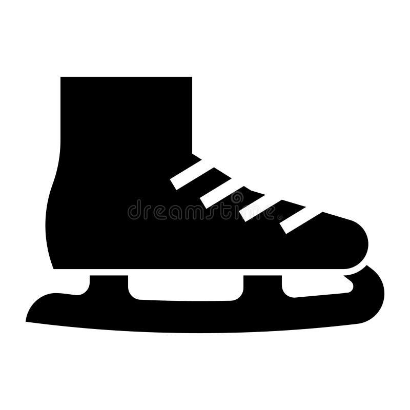 Значок ботинка конька льда глифа иллюстрация штока