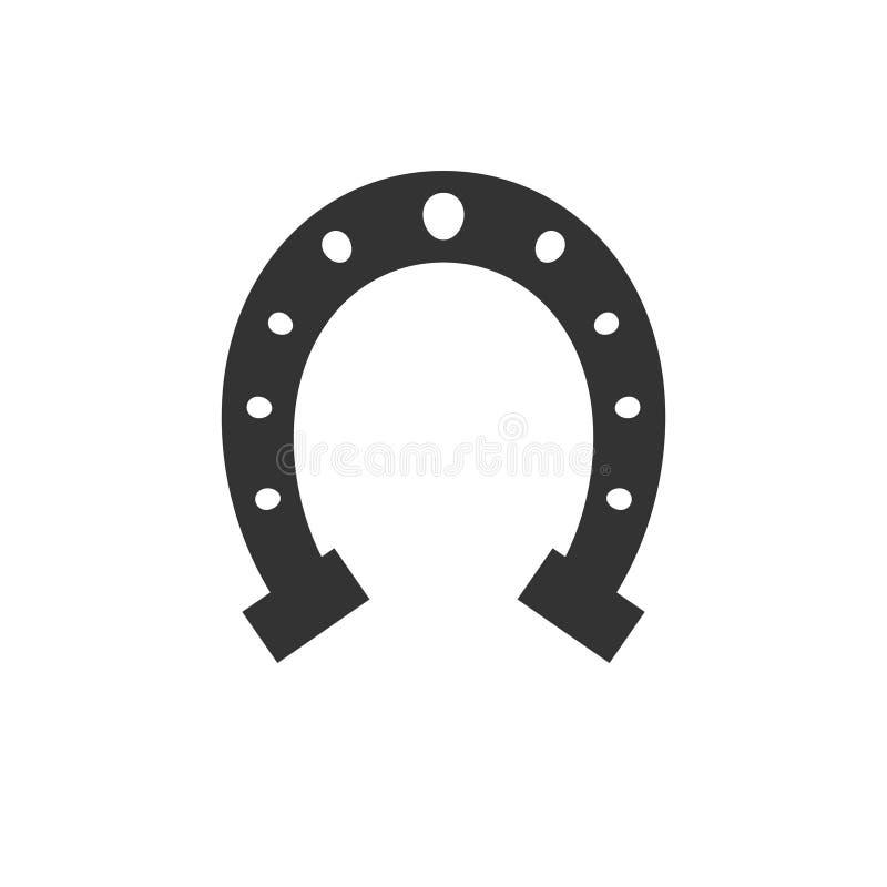 Значок ботинка лошади подковы матовой черноты вектора бесплатная иллюстрация