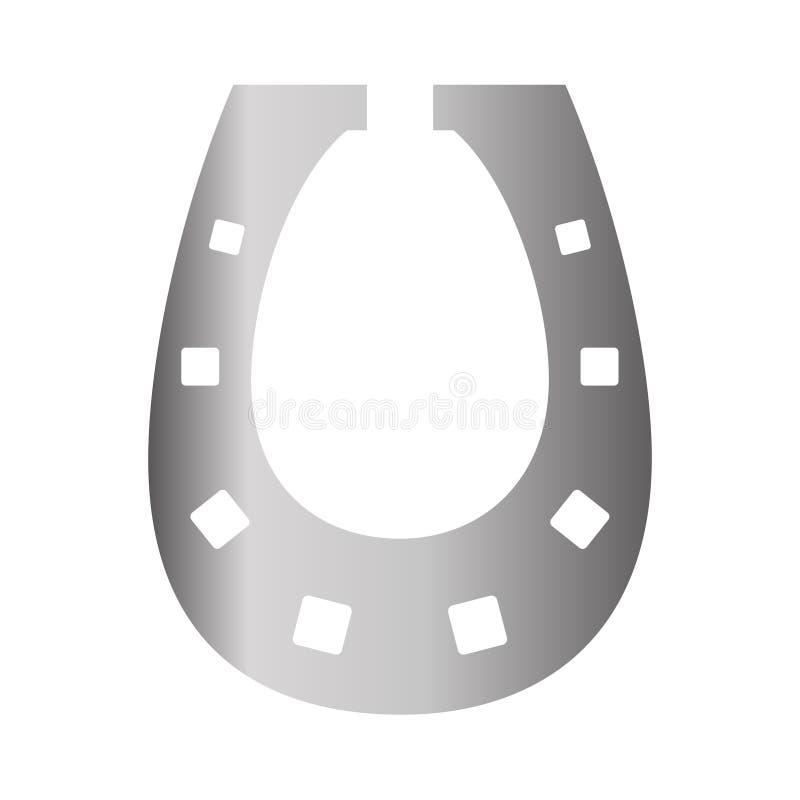 Значок ботинка лошади серебряный на предпосылке для графика и веб-дизайна Простой знак вектора Символ концепции интернета для веб бесплатная иллюстрация