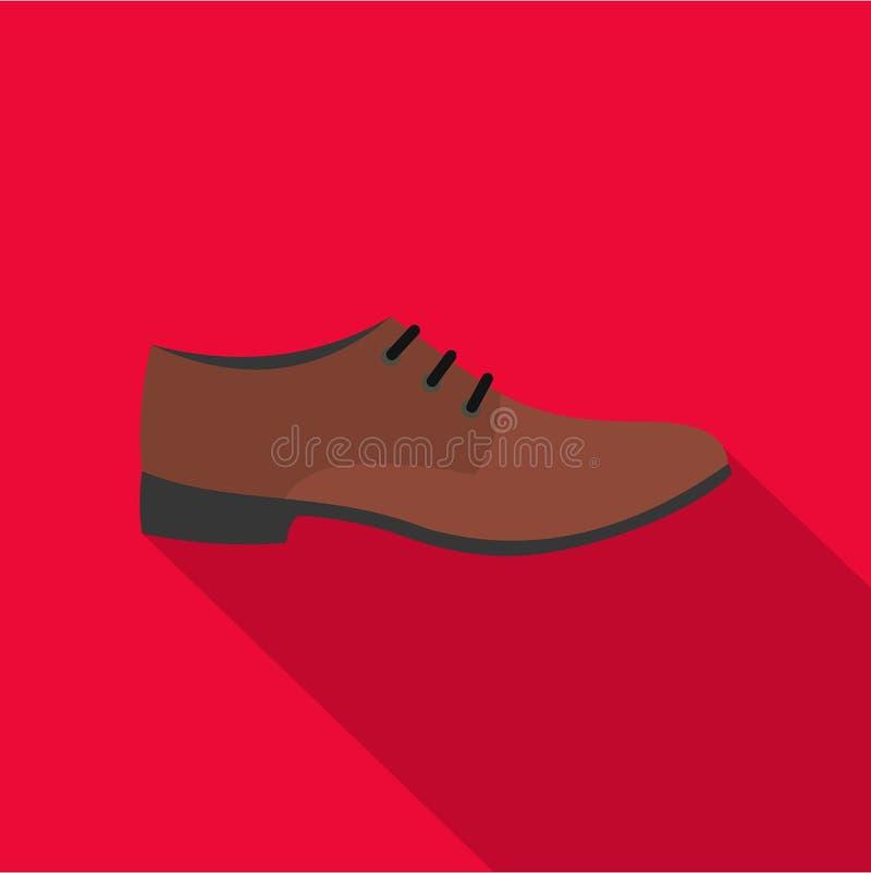 Значок ботинка людей плоский иллюстрация вектора