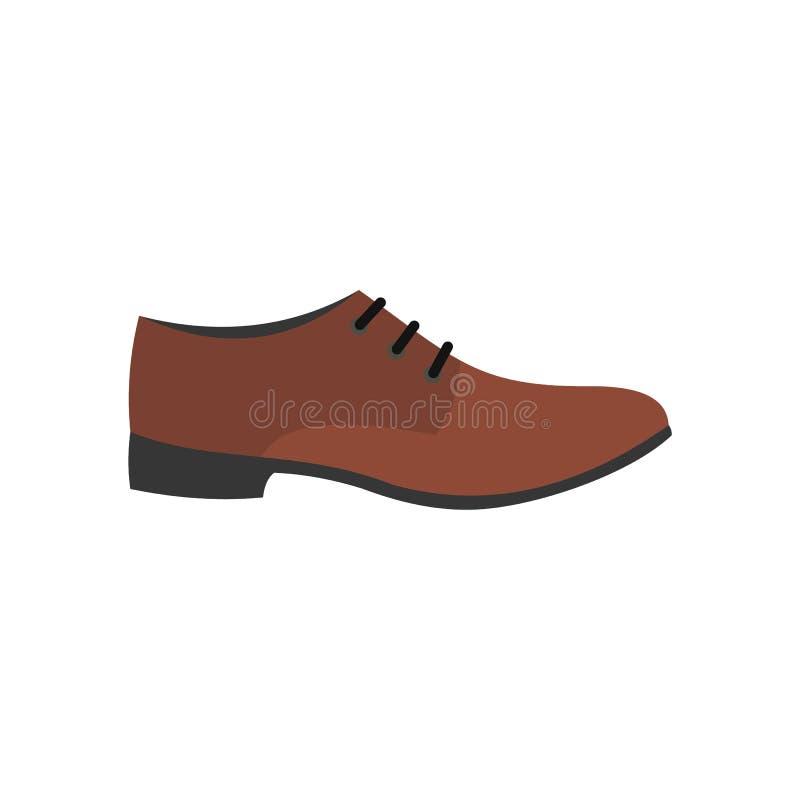 Значок ботинка людей плоский иллюстрация штока