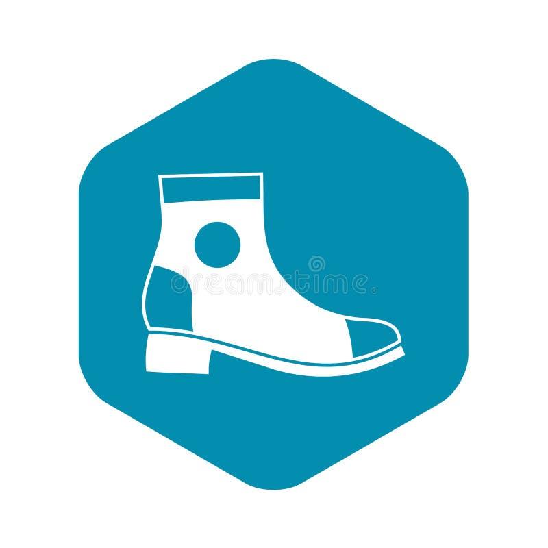 Значок ботинка людей, простой стиль иллюстрация вектора