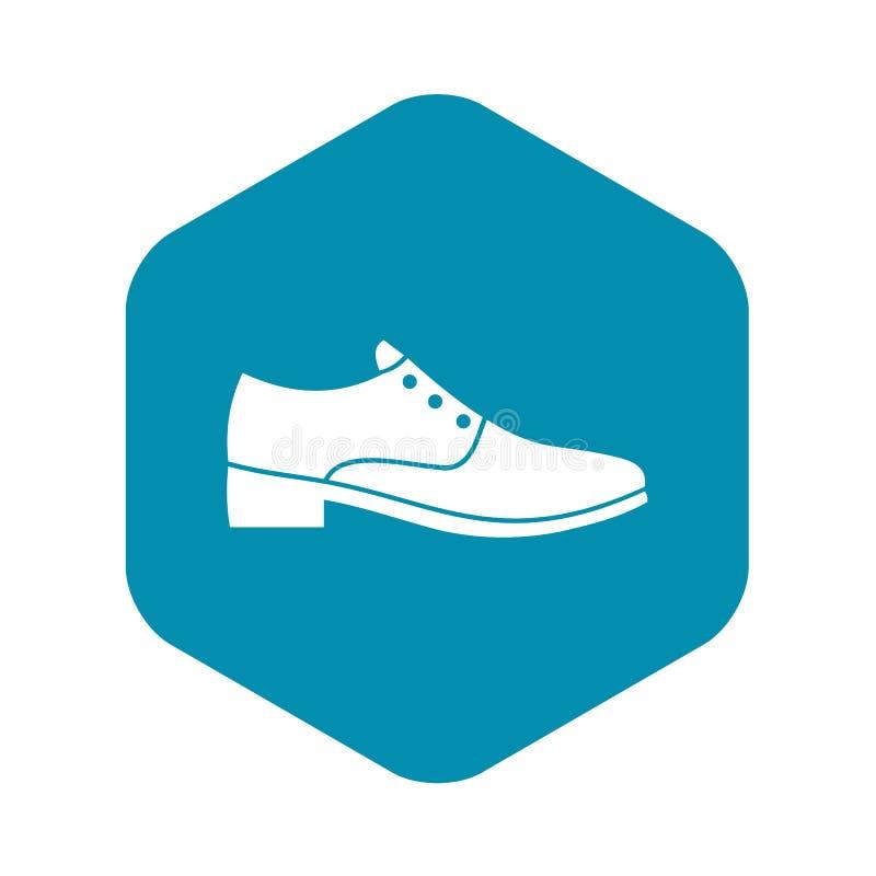 Значок ботинка людей, простой стиль иллюстрация штока