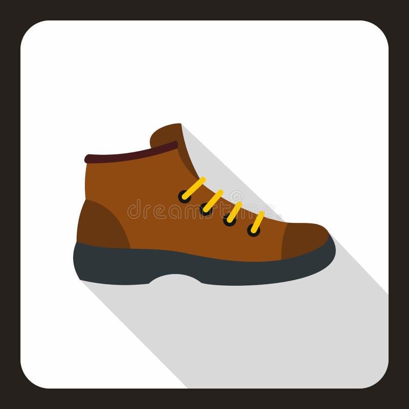 Значок ботинка, плоский стиль иллюстрация вектора