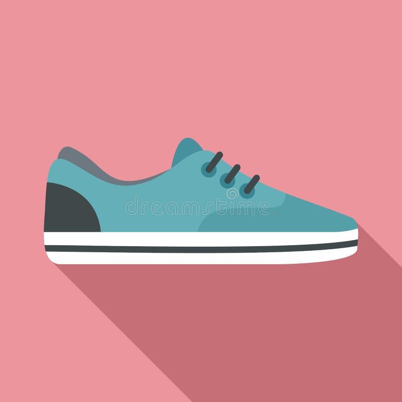 Значок ботинка спорта, плоский стиль иллюстрация вектора