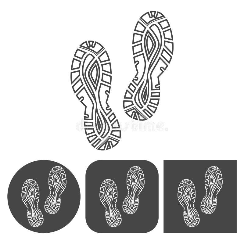 Значок ботинка спорта - установленные значки вектора иллюстрация вектора