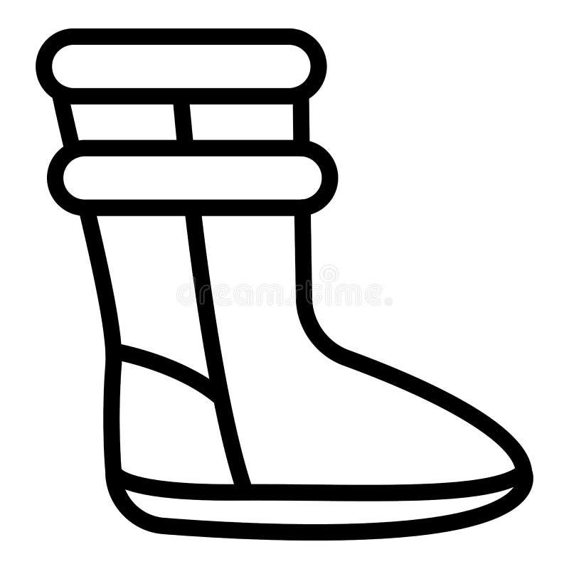 Значок ботинка ugg женщины, стиль плана бесплатная иллюстрация