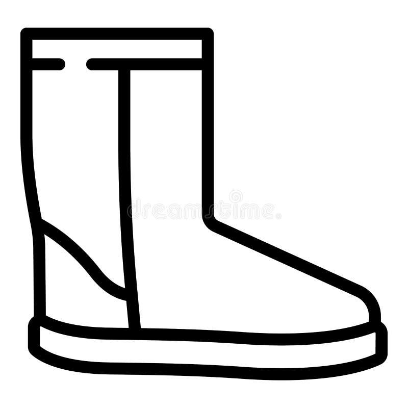 Значок ботинка ugg зимы, стиль плана бесплатная иллюстрация