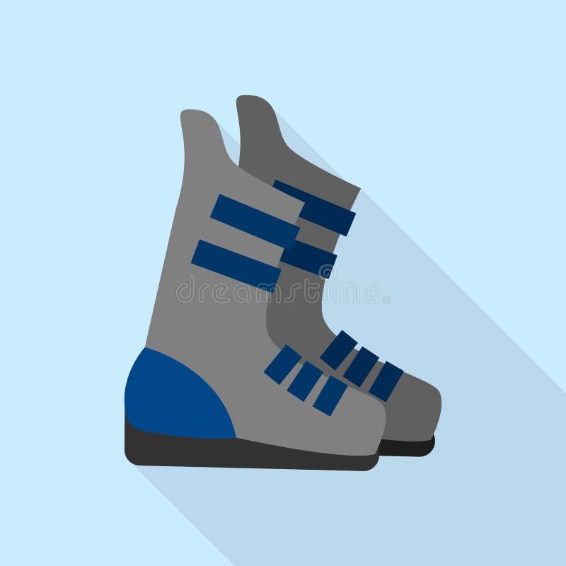 Значок ботинок лыжи современный, плоский стиль бесплатная иллюстрация