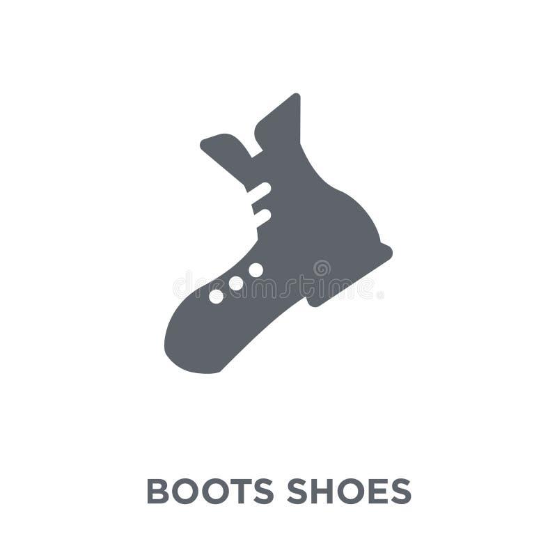Значок ботинок ботинок от располагаясь лагерем собрания иллюстрация вектора