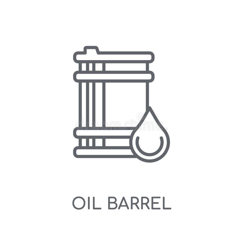 Значок бочонка масла линейный Современная концепция o логотипа бочонка масла плана бесплатная иллюстрация