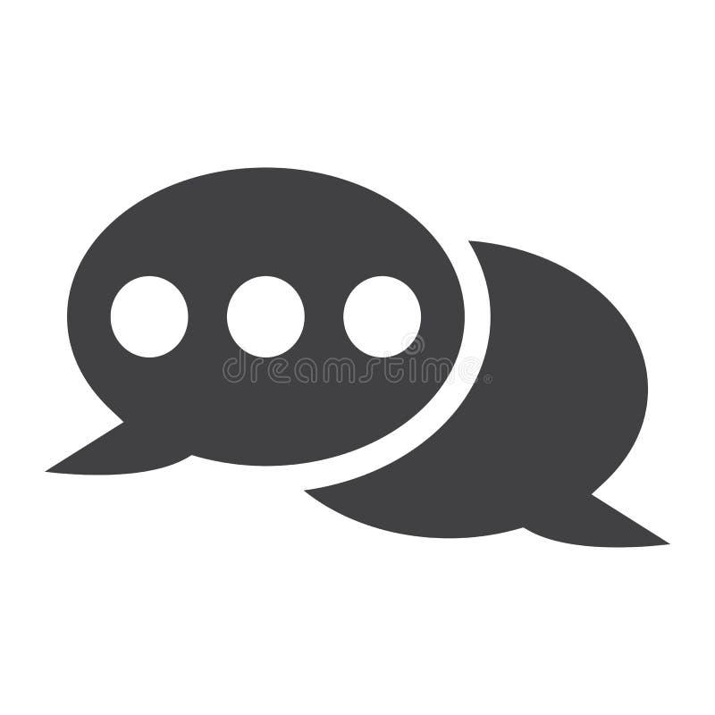 Значок, болтовня и вебсайт пузыря речи твердые иллюстрация вектора