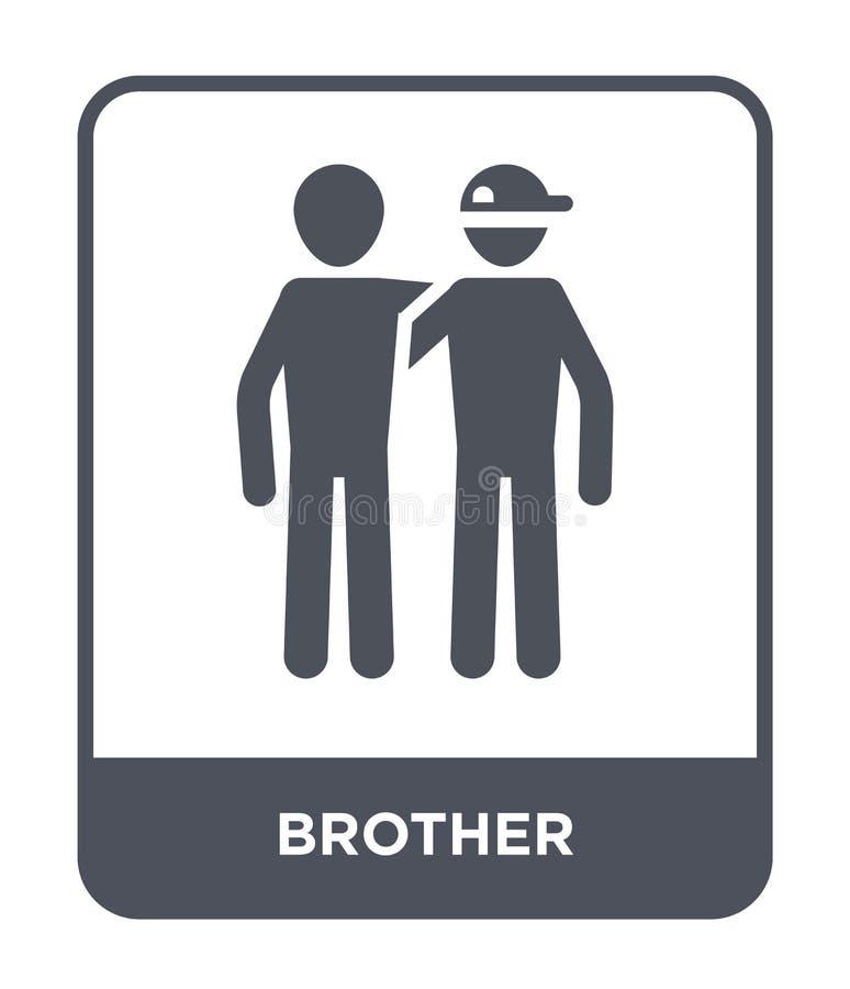 значок брата в ультрамодном стиле дизайна значок брата изолированный на белой предпосылке символ значка вектора брата простой и с бесплатная иллюстрация