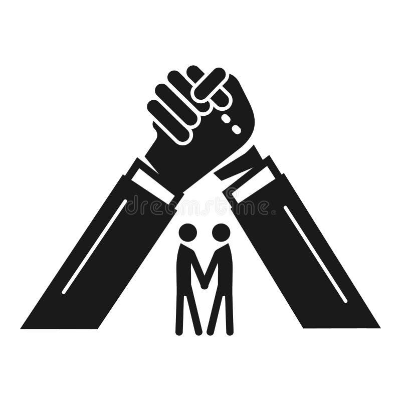 Значок братства людей, простой стиль иллюстрация штока