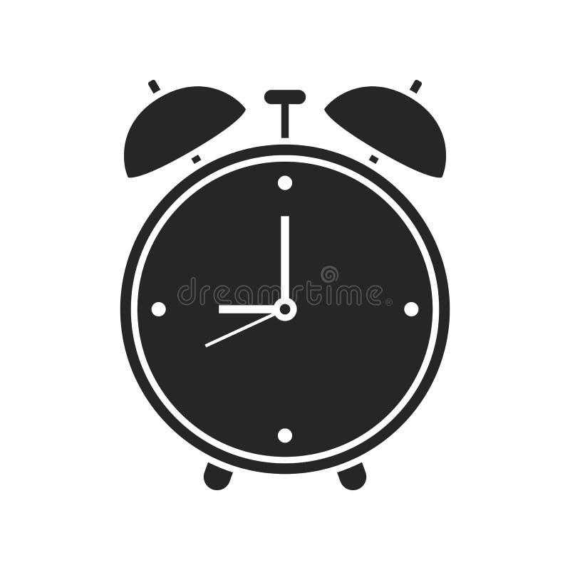 Значок будильника на белой предпосылке, для любого случая иллюстрация штока