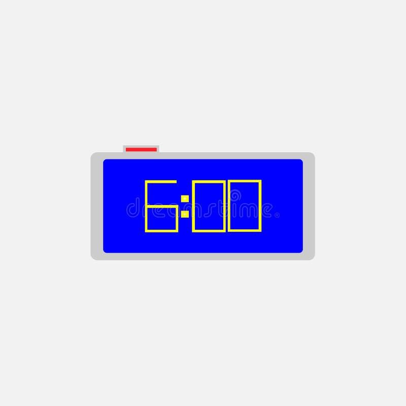 Значок будильника 6 часов утра иллюстрация вектора