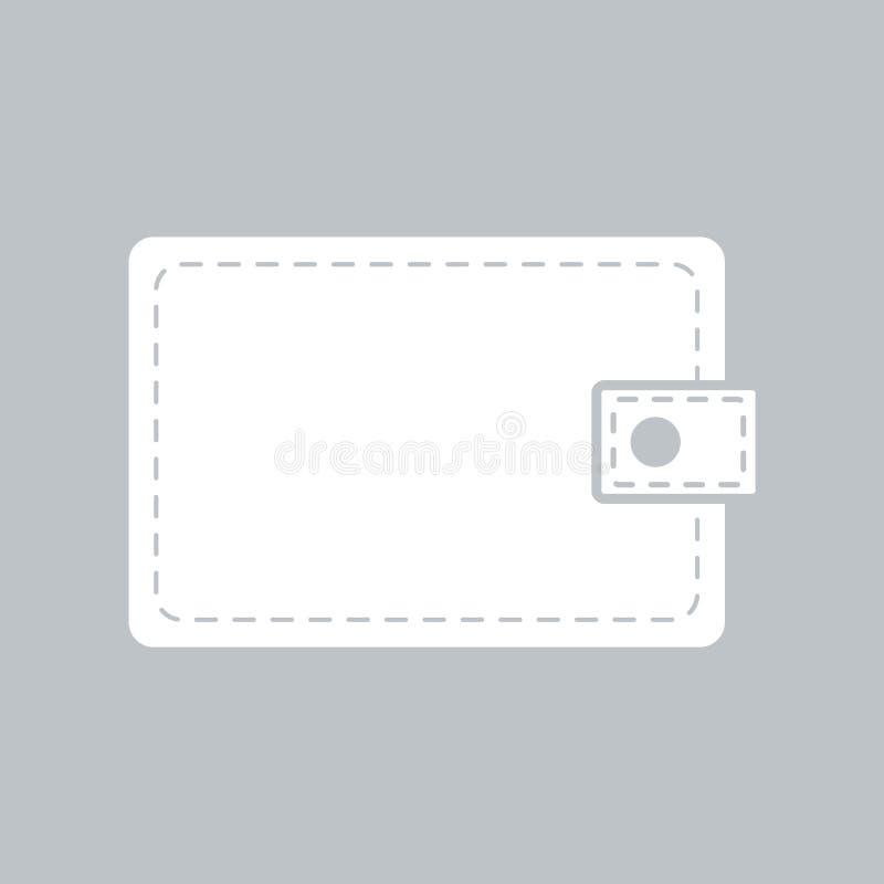 Значок бумажника плоский на серой предпосылке, для любого случая бесплатная иллюстрация