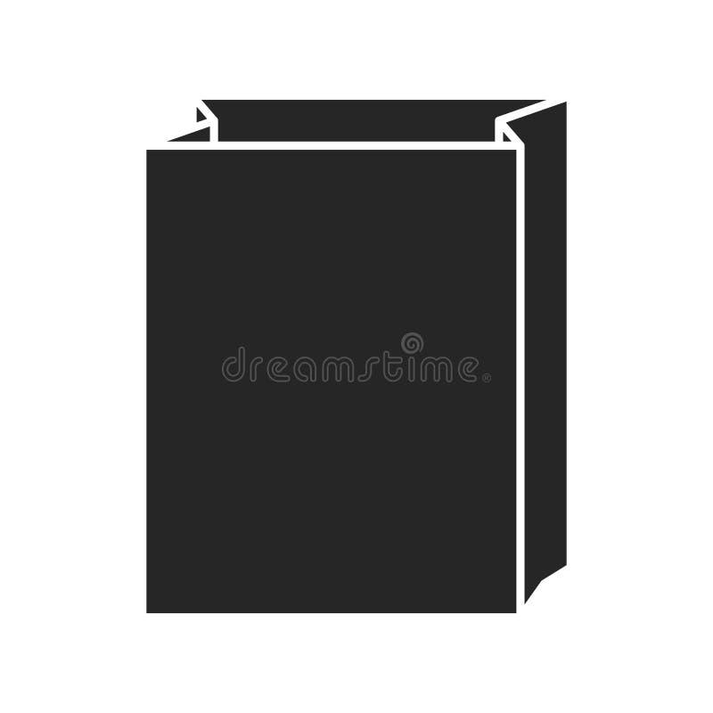 Значок бумажного мешка на белой предпосылке, для любого случая иллюстрация штока