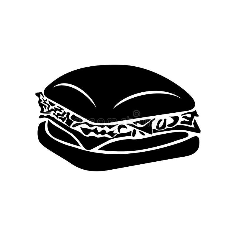 Значок бургера, простой стиль иллюстрация вектора